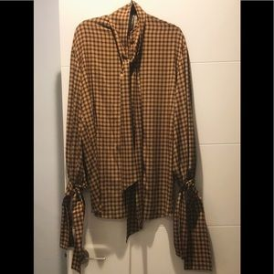 ROKH Houndstooth Blouse